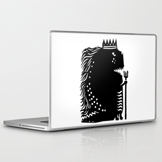Black king Laptop & iPad Skin