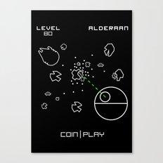 Retro Star Wars Arcade Alderaan Asteroids Canvas Print