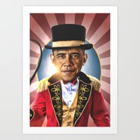 obama Art Prints featuring OBAMA by NOXBIL