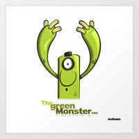 THE GREEN MONSTER... Art Print