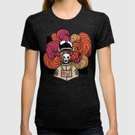 Disastrosmoke Womens Fitted Tee Tri-Black SMALL