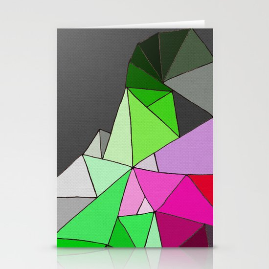 perfect colors in an imperfect configuration Stationery Card
