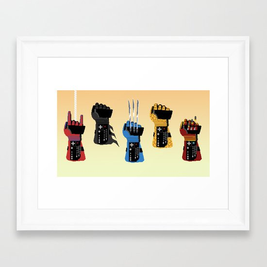 Power Glove Love Framed Art Print