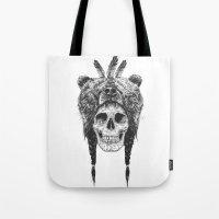 Dead Shaman (b&w) Tote Bag