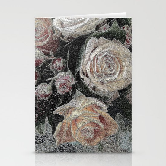 First Frost- Frozen Flowers  Stationery Card