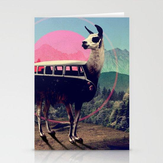 Llama Stationery Card