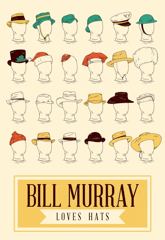 Bill's Hat Collection Canvas Print