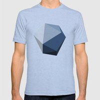 Minimal Geometric Polygon Art Mens Fitted Tee Athletic Blue SMALL