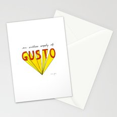 an endless supply of gusto Stationery Cards