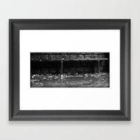 Raining cats and dogs Framed Art Print