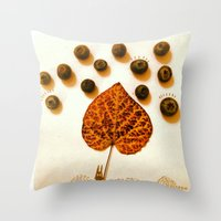 Blueberry Rain Throw Pillow