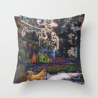 Clinton Street Revisited Throw Pillow