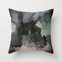 Patchwork Abstract  Throw Pillow