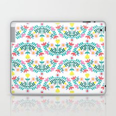 Folk Flowers White Laptop & iPad Skin