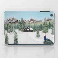 Christmas on the mountain iPad Case