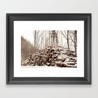 Dead Forest Framed Art Print