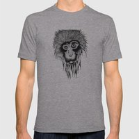 Monkey Mens Fitted Tee Athletic Grey SMALL