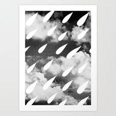 Storm Clouds + Droplets Art Print