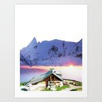 Experiment Am Berg 26 Art Print