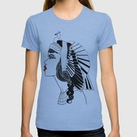 Queen Of The Nile. Womens Fitted Tee Athletic Blue SMALL