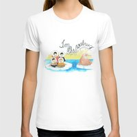 Les Petits - I'm The Walrus Womens Fitted Tee White SMALL
