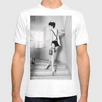 Drunkart Mens Fitted Tee White SMALL