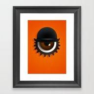 A Clockwork Eye Framed Art Print