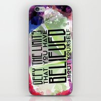 Defy the Limits You Have Believed About Yourself iPhone & iPod Skin