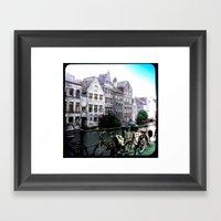 Gent, Belgium Postcard/P… Framed Art Print