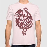 Modern Damask 2 Mens Fitted Tee Light Pink SMALL