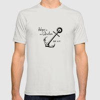 Hope Is An Anchor Mens Fitted Tee Silver SMALL