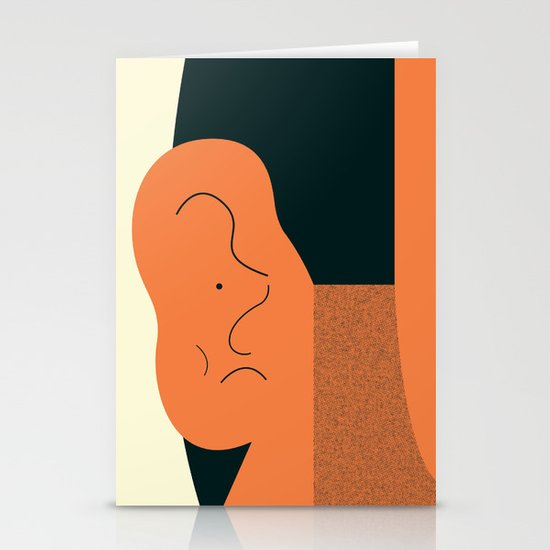 Angry talking makes the ear cranky Stationery Card