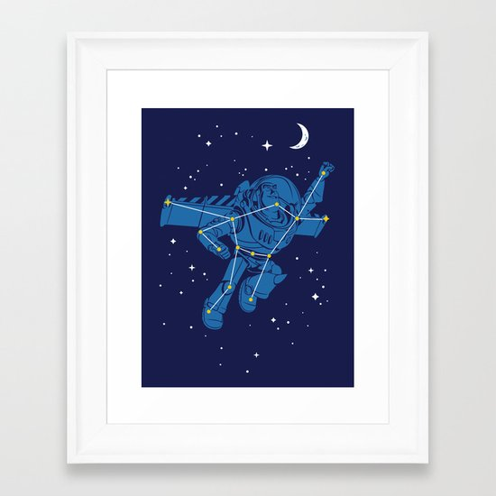 Universal Star Framed Art Print