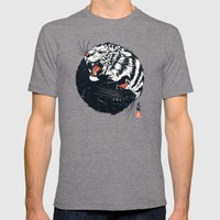 Taichi Tiger Mens Fitted Tee Tri-Grey SMALL