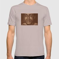 Round 1...cassius Clay Mens Fitted Tee Cinder SMALL