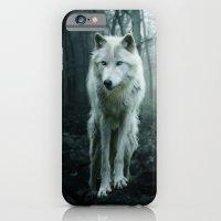 wolf iPhone & iPod Cases featuring Wolf by Julie Hoddinott