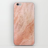 Polished Rose Gold Marble iPhone & iPod Skin