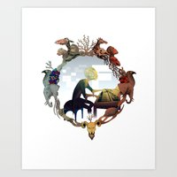R S music Art Print