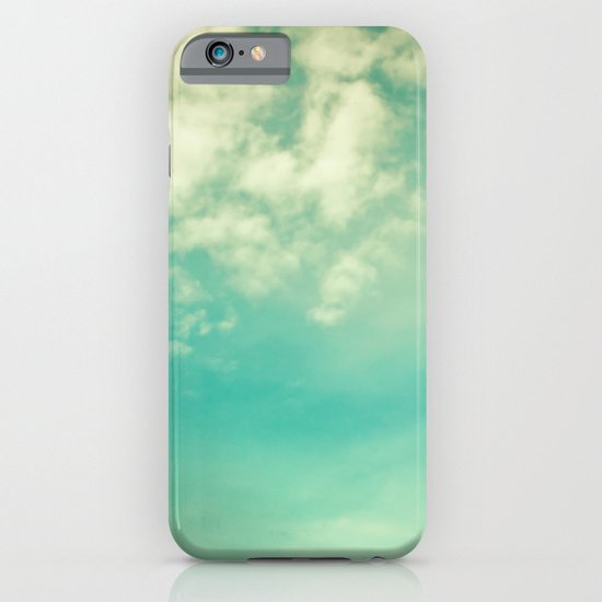 Retro Vintage Blue Turquoise Fall Sky and Clouds iPhone & iPod Case