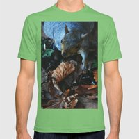 Autumn Squirrel  Mens Fitted Tee Grass SMALL