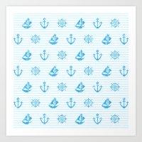 Sea Knitting #2 Art Print