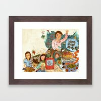 Music Collage Framed Art Print