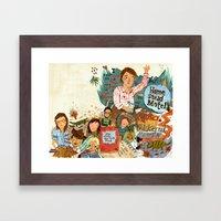 Music Collage Framed Art Print