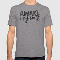 Awake My Soul Mens Fitted Tee Tri-Grey SMALL