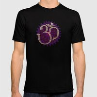 Om Mens Fitted Tee Black SMALL
