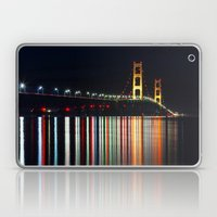 Mackinac Bridge at Night Laptop & iPad Skin