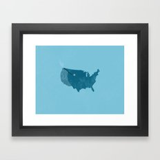 AmeriWhale The Beautiful Framed Art Print