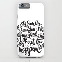 iPhone Cases featuring grand adventure by Matthew Taylor Wilson