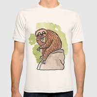 Feeling Philoslothical Mens Fitted Tee Natural SMALL