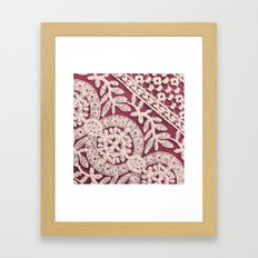 lace on red Framed Art Print